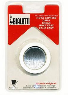 義大利 Bialetti Moka Express 摩卡壺過濾橡圈+過濾片 3杯(3組入)