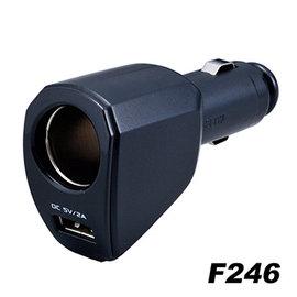 【預購】日本SEIWA 單孔+USB 2A 直插式 電源擴充插座 F246