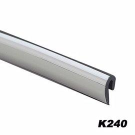 【預購】日本SEIWA 黏貼式 鍍鉻黑邊 車內外裝飾條 車門防碰傷撞保護片 K240