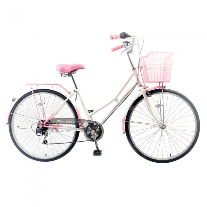 Hello Kitty 26吋6速漸層粉紅白淑女車(K-TY26)