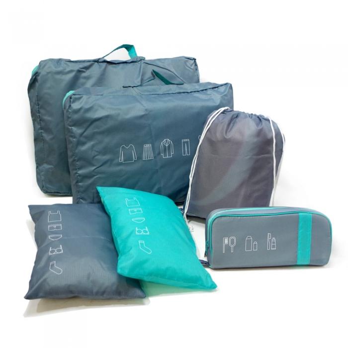 Nudu - 旅行收納袋6件組KB-08001