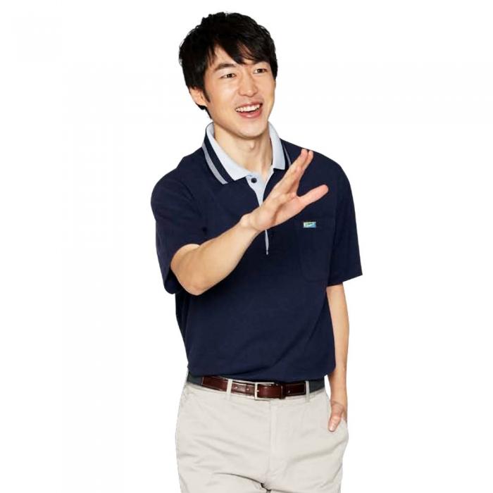 【LEIDOOE】36007 藏青紳士男款短袖POLO衫3L