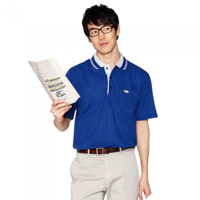 【LEIDOOE】36008 寶藍紳士男款短袖POLO衫M