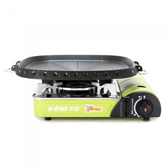 K-ONE卡旺-777攜帶式卡式爐K1-777S + 韓國最新火烤兩用烤盤NU-G