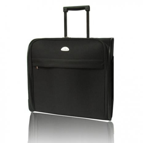 【US DUCK】14吋簡易黑色拉桿電腦行李箱(VA-9614)