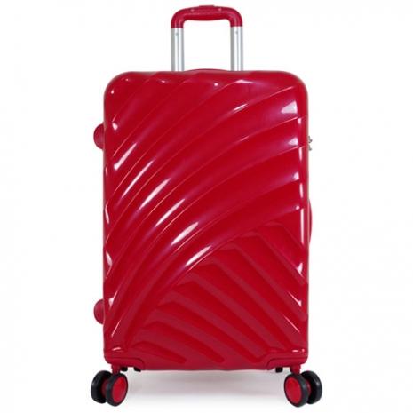 【KEVIN & JOYCE】24吋艷麗紅斜紋拉桿箱(KJ-2401RE)