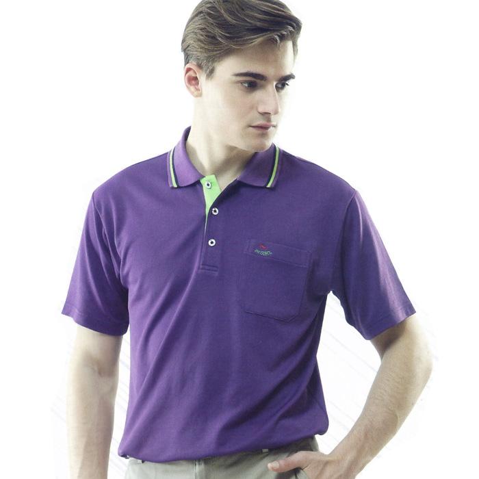 【Per GIBO】吸溼排汗男版短POLO衫(PT121902)紫
