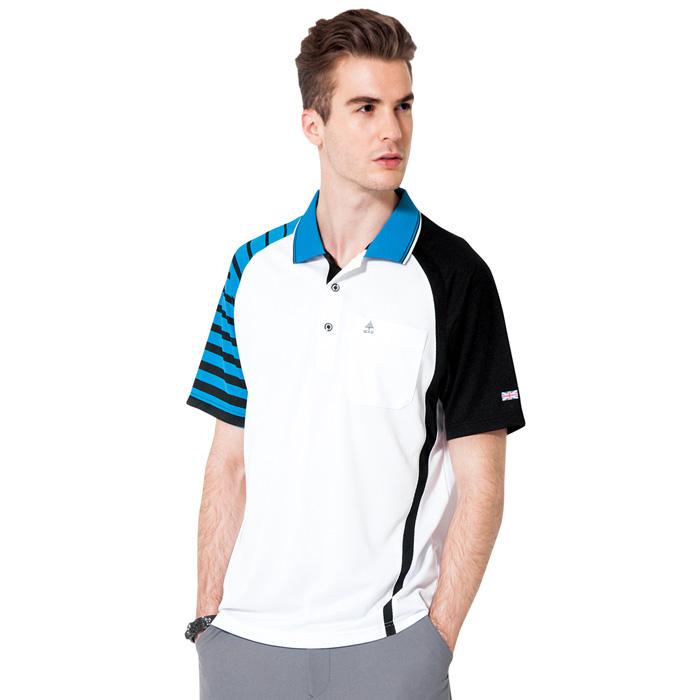 【SPAR】吸濕排汗男版短袖POLO衫(SP48375)亮藍色2L