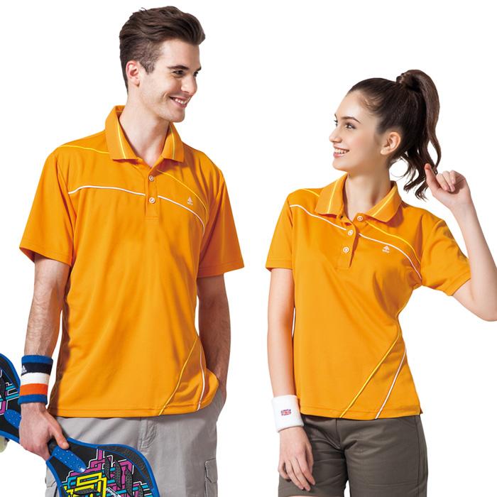 【SPAR】吸濕排汗男版短袖POLO衫(SP48193)炫桔色