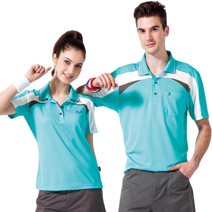 【SPAR】吸濕排汗男版短袖POLO衫(SP48281)冰藍色
