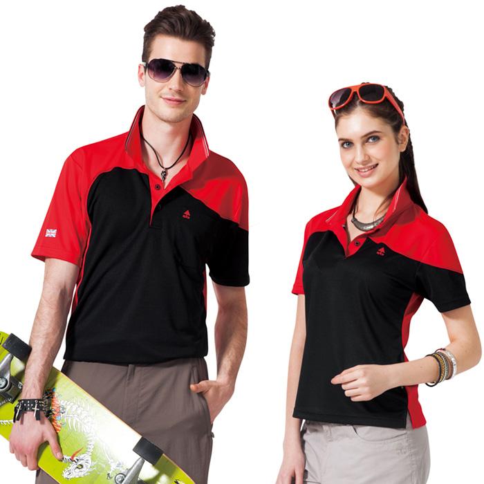 【SPAR】吸濕排汗男版短袖POLO衫(SP48195)亮紅色