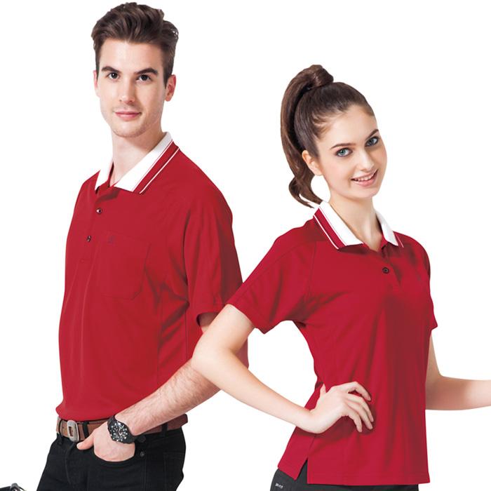 【SPAR】吸濕排汗男版短袖POLO衫(SP48284)紅色