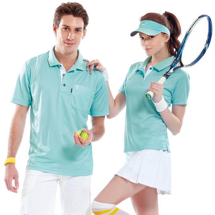 【SPAR】吸濕排汗女版短袖POLO衫(SP74787)湖水藍色