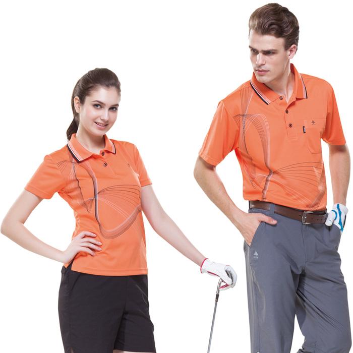 【SPAR】吸濕排汗女版短袖POLO衫(SP74786)鮮桔色