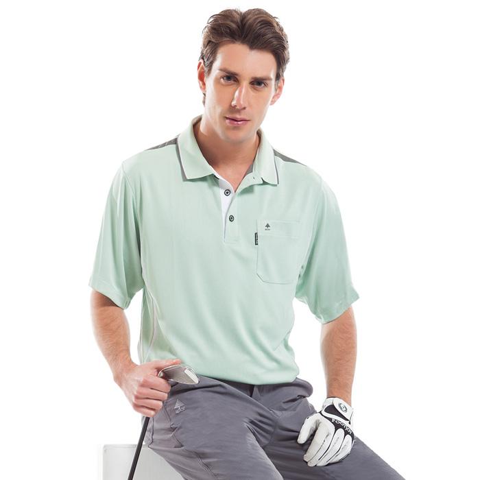 【SPAR】吸濕排汗男版短袖POLO衫(SP53124)淺綠色S