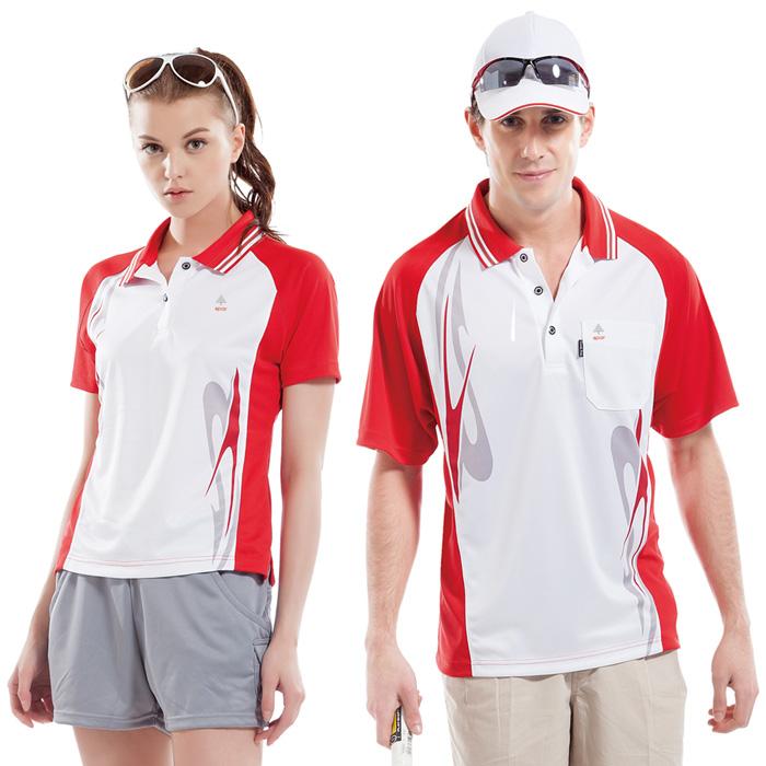 【SPAR】吸濕排汗女版短袖POLO衫(SP74784)白+紅色