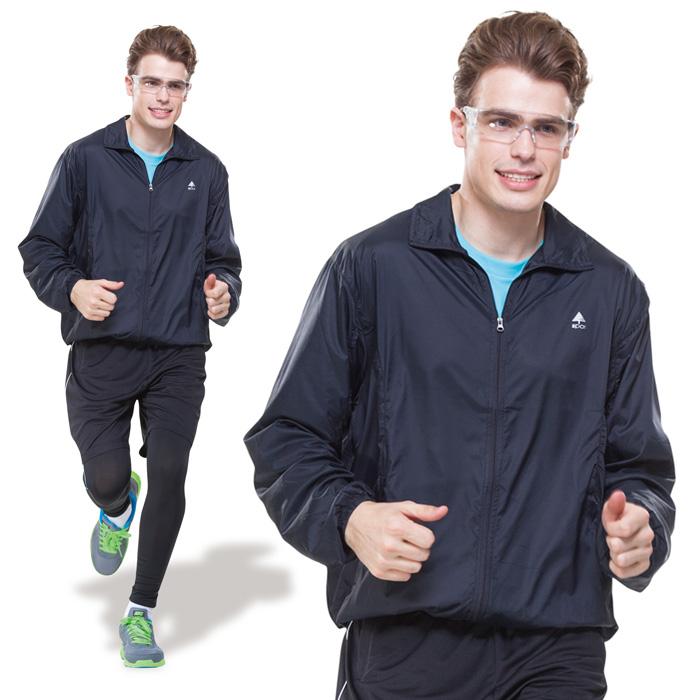 【SPAR】超輕薄˙抗UV男版防風外套(SP95912)暗藍色