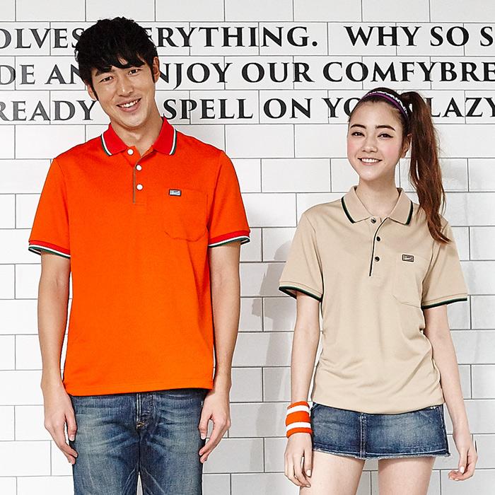 【LEIDOOE】中性版休閒運動短袖POLO衫-桔76013XL