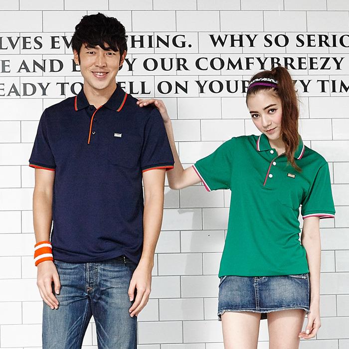 【LEIDOOE】中性版休閒運動短袖POLO衫-丈青760162XL