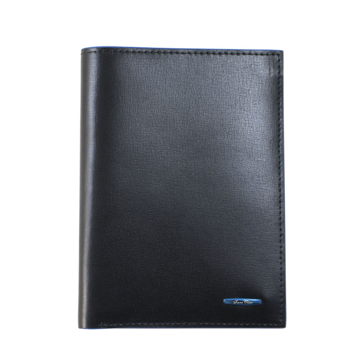 SaintClair質感黑藍邊護照套-Z3851