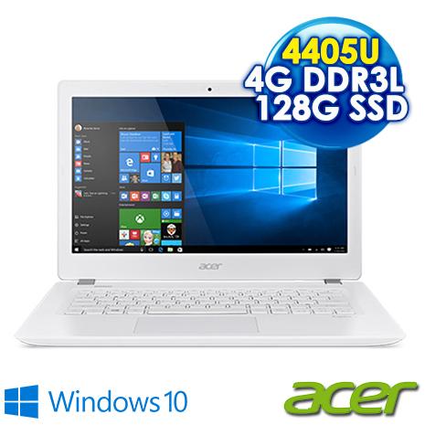 【瘋狂下殺】ACER V3-372-P1GH 13.3吋霧面 白(Pentium 4405U/4G/128G SSD/Win10/AC網卡)-數位筆電.列印.DIY-myfone購物