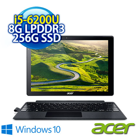 ★瘋狂下殺 4/28前再現折一千二★ ACER Alpha Switch 12(SA5-271P-574Y) (i5-6200U/8G/256G SSD/12