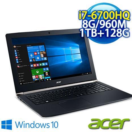 ★瘋狂下殺★  ACER VN7-592G-780P 15吋 強悍電競筆電(I7-6700HQ/8GB DDR4/1TB+128G SSD/GTX 960 4G/15.6FHD/Win10)