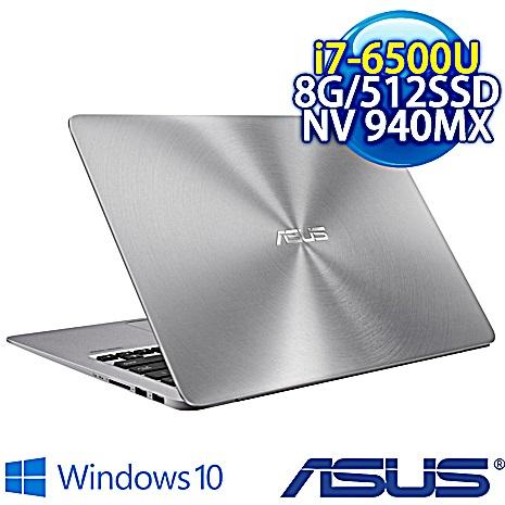 【瘋狂下殺】ASUS UX310UQ-0071A6500U (i7-6500U/DDR4 1600 8G /512G SSD/NV 940MX 2G/13.3吋FHD/802.11AC/W10)石英灰