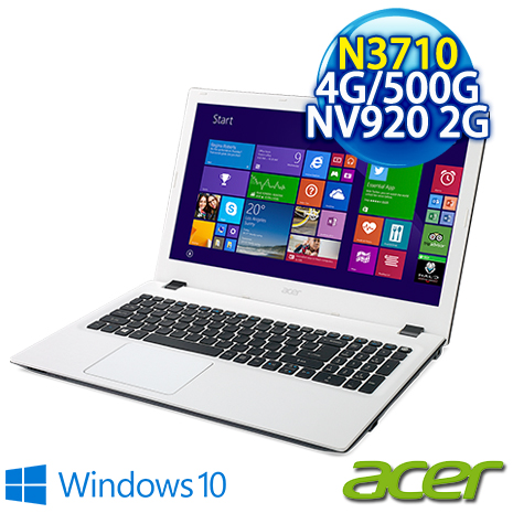 【瘋狂下殺】ACER E5-532G-P4EJ (N3710/4G/500GB/NV 920 2G/DVD/15.6 Win10) 質感文書筆電