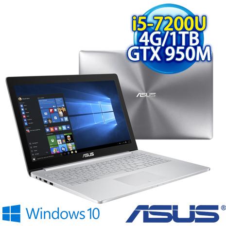 ★瘋狂下殺 2/23前再現折一千★ ASUS UX510UX-0091A7200U (i5-7200U/4G DDR4/1TB /GTX 950M 2G GDDR5/15.6吋FHD/W10)
