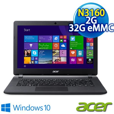 【ACER】ACER ES1-331-C2LU 13.3吋 黑 攜帶方便效能小筆電 (N3160/2G/32G eMMC/Win10)