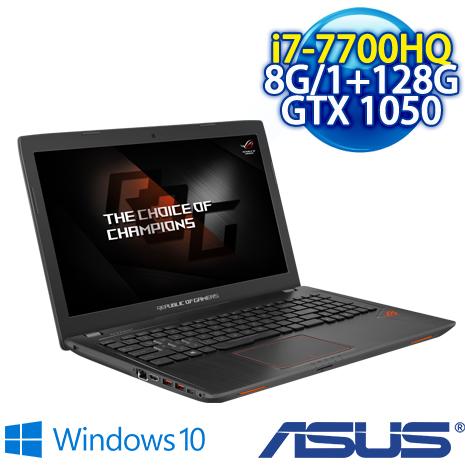 ★瘋狂下殺 3/27前再現折一千★ ASUS GL553VD-0021B7700HQ ROG 15.6吋FHD (i7-7700HQ/8G DDR4/1TB+128G/GTX 1050 4G GDDR..