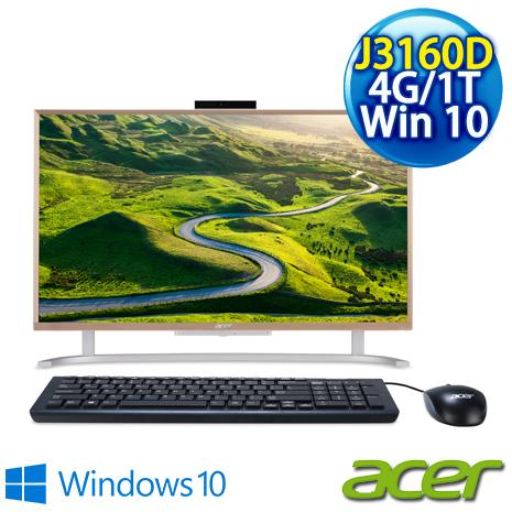 【Acer】Acer PC All in one C22-720 桌上型電腦( Celeron J3160/21.5吋非觸控/4G/1TB/Win10 )