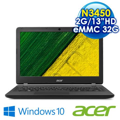 【ACER】ACER ES1-332-C8KM 13.3吋 黑 攜帶方便效能小筆電 N3450/2G/eMMC 32G/Win10