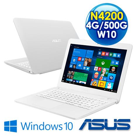 【初夏禮包二選一】ASUS X441NA-0023GN4200 14吋 白色 (Pentium N4200 /4G/500G/UMA//DVD/W10)陽光沙灘比基尼