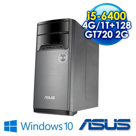【瘋狂特殺】ASUS M32CD-0111C640GTT i5-6400/4G/1T+128GSSD/GT720 2G/Wifi/Win10/黑 三年保固到府收送