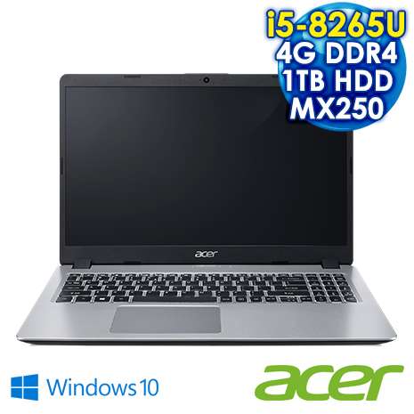 Acer宏碁 Aspire A515-52G-50KE  銀  15.6吋戰鬥效能筆電 (i5-8265U/4G DDR4/1TB/MX250 2G/15.6 IPS FHD /Win10)