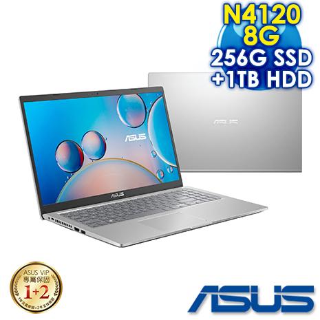【全面升級版】ASUS華碩 X515MA-0431SN4120 冰河銀(Celeron N4120/8G/256G PCIe+1TB HDD/W10/FHD/15.6)