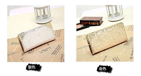 (共二色)【L.Elegant】韓版氣質耀眼女用長夾錢包