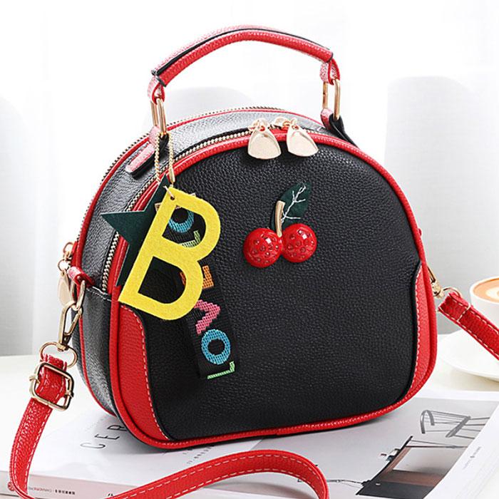 (共二色)【L.Elegant】韓版草莓時尚百搭手提肩背斜背包