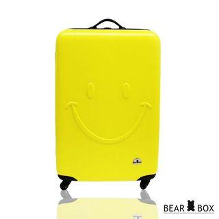 【BEAR BOX】☆莎莎代言☆ 一見你就笑☆ ABS輕硬殼微笑行李箱旅行箱(20吋)微笑藍