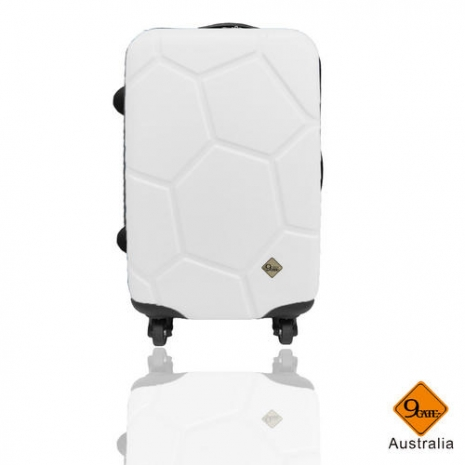 【Gate9】 經典世紀足球系列ABS輕硬殼行李箱/旅行箱/登機箱(24吋)經典白