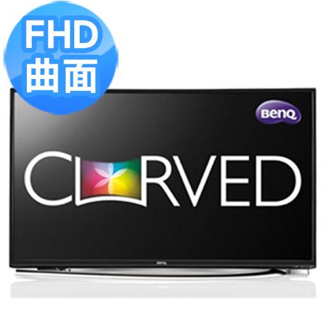 好禮四選一【BenQ】55吋 FHD曲面超絢彩黑湛屏大型液晶顯示器+視訊盒(55RU6600)