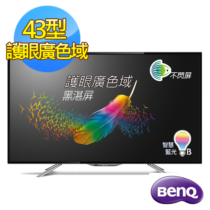 贈安裝+大同吹風機【BenQ】43吋護眼廣色域低藍光LED液晶顯示器+視訊盒(43IW6500)