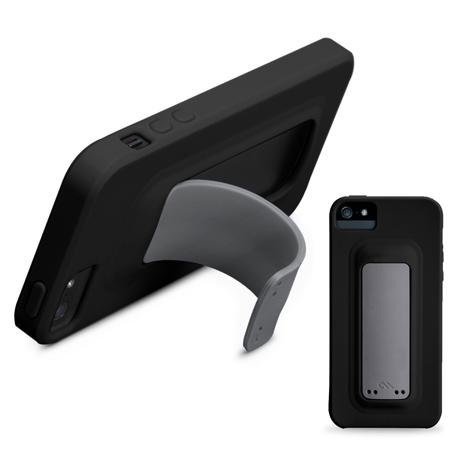 CASE-MATE SNAP iPhone SE/5S 彈跳站立矽膠保護殼 (黑)