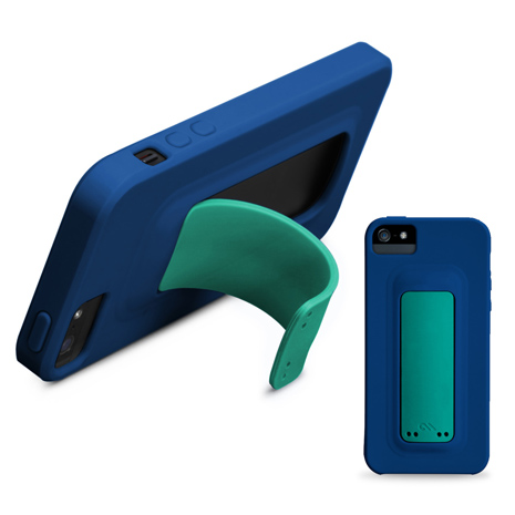 CASE-MATE SNAP iPhone SE/5S 彈跳站立矽膠保護殼 (藍)