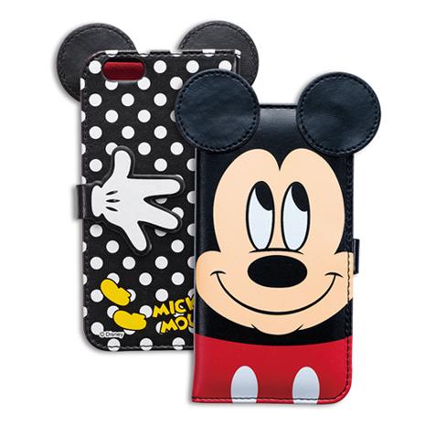 日本 Suncrest Disney iPhone6/6s (4.7吋)米奇機能側翻保護皮套(Mickey Mouse)