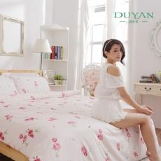 ↘DUYAN~夏日玫瑰~紅~雙人加大四件式精梳純棉床包被套組