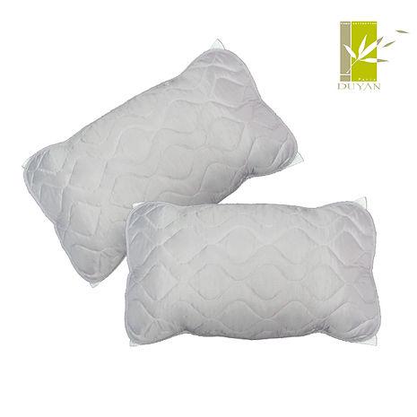 特賣【DUYAN】防水平單式竹炭枕頭保潔墊(2入)