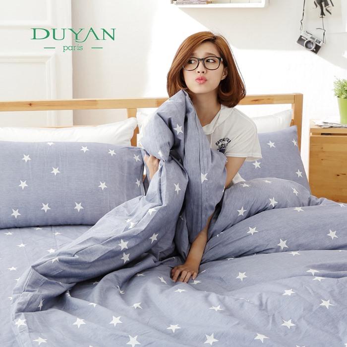 DUYAN《星色悠氧》雙人加大四件式舖棉兩用被床包組